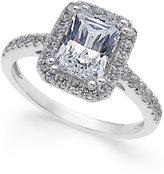 Arabella Swarovski Zirconia Square Ring in 14k White Gold, Only at Macy's