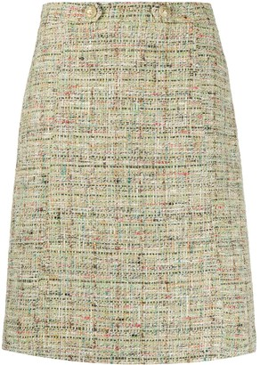 Etro Metallic-Effect Tweed Skirt