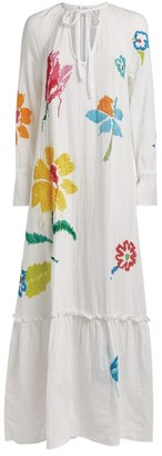 Mira Mikati Floral-Embroidered Dress
