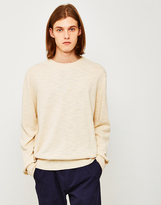 YMC Bel-Airs Crew Neck Jumper Off White