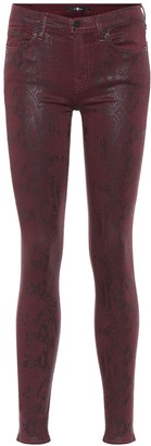 7 For All Mankind The Skinny snake-print jeans