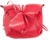Carlos Falchi Textured Leather Mini Crossbody Bag