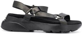 Hogan Flat Touch Strap Sandals