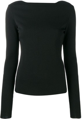 Givenchy back floral lace detail jumper