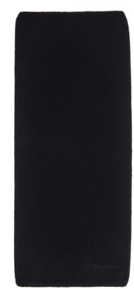 Yohji Yamamoto Black Wool Neck Warmer
