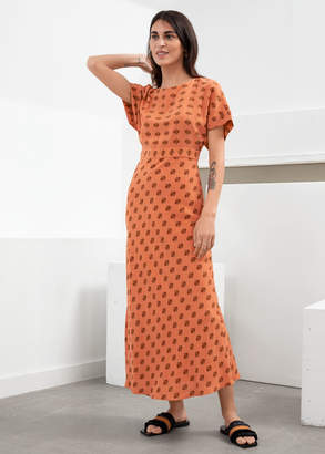 And other stories Short Sleeve Printed Maxi Dress