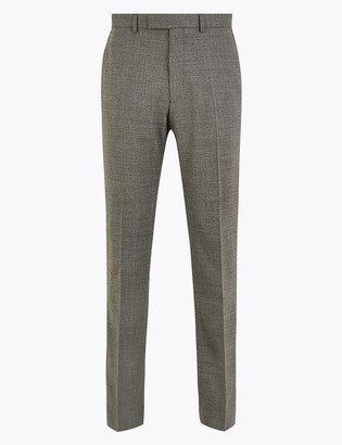 Marks and Spencer Grey Regular Fit Trousers