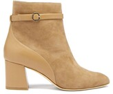 Thumbnail for your product : Malone Souliers Kloe Suede And Leather Ankle Boots - Tan
