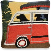 Liora Manné Frontporch Camping Trip Square Throw Pillow in Red