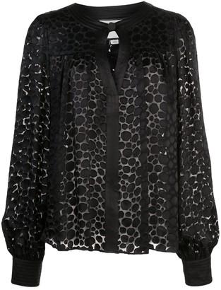 Alexis Rhida shape print blouse