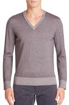 Tomas Maier Overdyed Virgin Wool Sweater