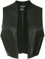 Ann Demeulemeester cropped waistcoat - women - Leather - 40