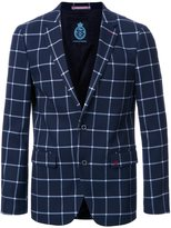 GUILD PRIME checked single breasted blazer - men - Polyester - 2