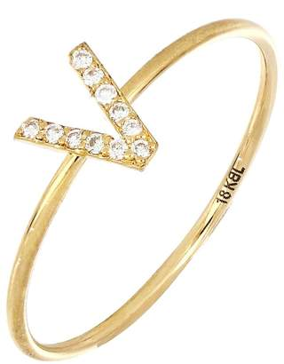Bony Levy Simple Obsession Diamond Initial Ring