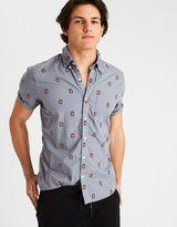American Eagle Outfitters AE Print Short Sleeve Poplin Shirt