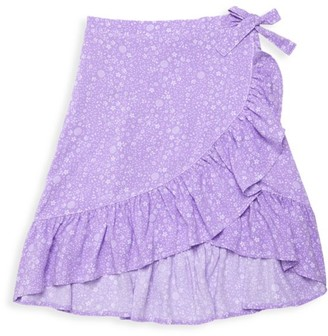 Design History Little Girl's & Girl's Floral Ruffle Skirt