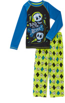 Komar Kids Blue & Yellow 'Bad to the Bone' Pajama Set - Boys