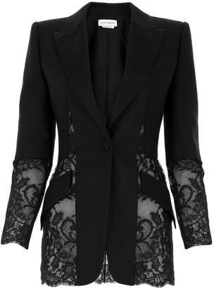 Alexander McQueen Lace-Detailed Blazer