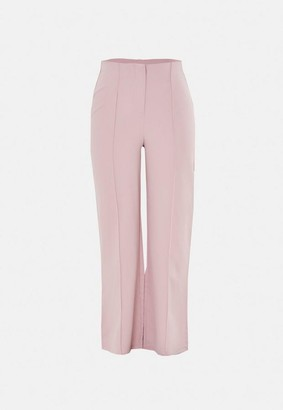 Missguided Pink Co Ord Seam Detail Straight Leg Pants