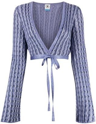 M Missoni Cropped Tie-Waist Cardigan