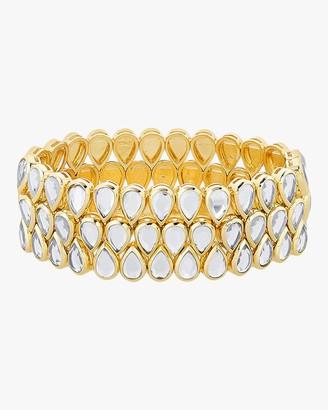 Isharya Limelight Mirror Mesh Bracelet