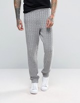 Asos Knitted Joggers with Chunky Cable and Rib Detail