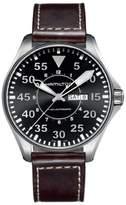Hamilton Khaki Aviation Automatic Leather Strap Watch, 46mm