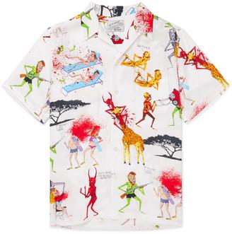 Wacko Maria + Nasty Neck Face Camp-Collar Printed Woven Shirt