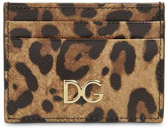 Dolce & Gabbana LEOPARD PRINT LEATHER CARD HOLDER
