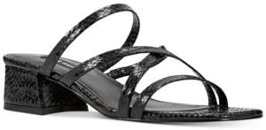 Nine West Remy Block-Heel Slide Sandals Women's Shoes