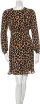 Tory Burch Silk Leopard-Printed Dress