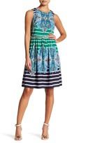 Eliza J Sleeveless Fit & Flare Keyhole Back Dress