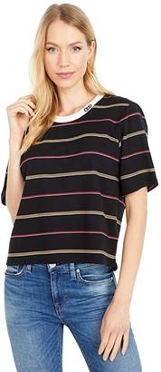 Hurley Hello Kitty(r) Jacquard T-Shirt (Black) Women's Clothing