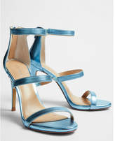 Express metallic heeled sandals