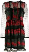 RED Valentino floral lace mini dress