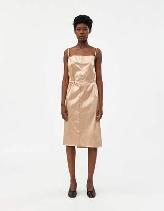 Base Range Baserange Yumi Apron Dress in Gravel Beige