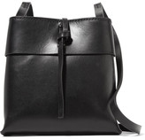 Kara Nano Tie Leather Shoulder Bag - Black