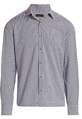 Saks Fifth Avenue Multi-Color Mini Check Shirt