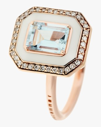 Selim Mouzannar Diamond and Aquamarine Ring
