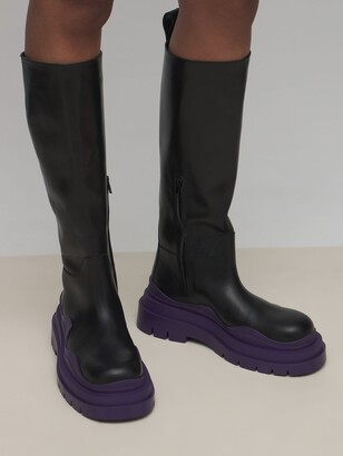 Bottega Veneta 55mm Tire Leather Tall Boots