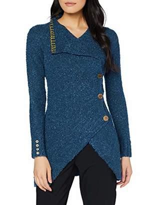 Joe Browns Womens Chunky Knit Longline Cardigan Blue