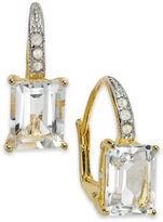 Townsend Victoria Sterling Silver Earrings, White Topaz (8 ct. t.w.) and Diamond Accent Earrings