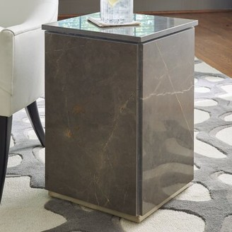 Global Views Graffito Marble End Table