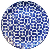 Jay Import Medallion Squares Blue Round Platter