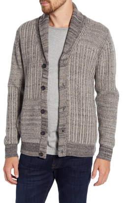 Billy Reid Patch Ribbon Wool Blend Cardigan Sweater