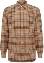 Burberry Check Print Long Sleeve Shirt