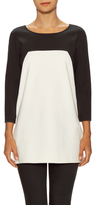 Josie Natori Jersey Colorblock Top
