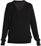 Givenchy Button-Embellished Wool Silk Sweater