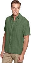 Tasso Elba Island Big and Tall Short Sleeve Silk and Linen Blend Shirt