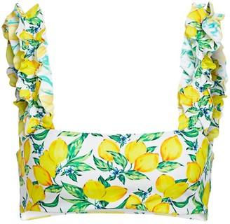 Onia X WeWoreWhat Como Lemon Bikini Top